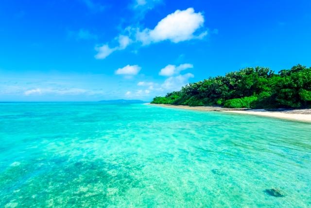 沖縄で海水浴