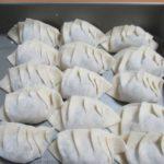 手作り餃子の冷凍方法